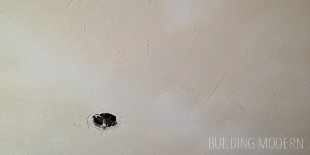 Stomped to Smooth: Skim coating a ceiling DIY