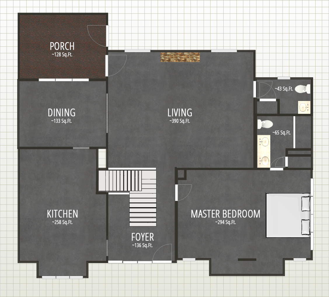 Floor plan drawing on Autodesk Homestyler