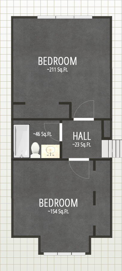 Floorplan drawing second floor