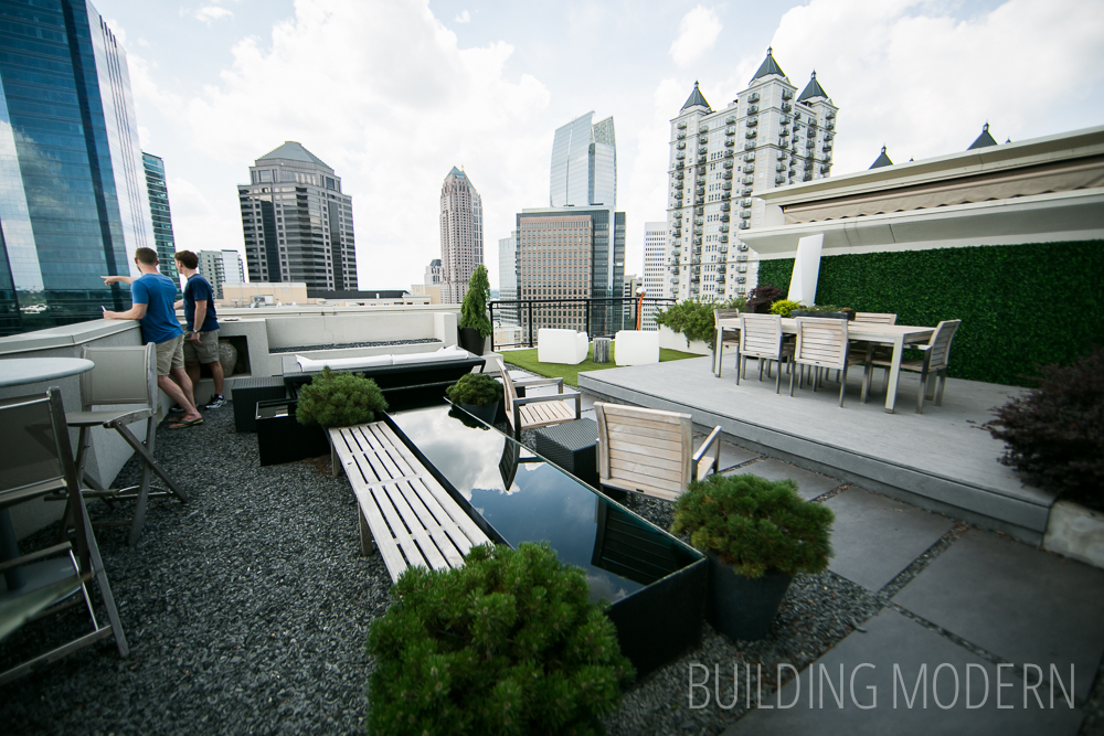 Residential Building Roof Deck at 12th Street in Atlanta