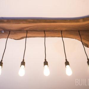 Building Modern Live Edge Walnut Industrial Light Fixture