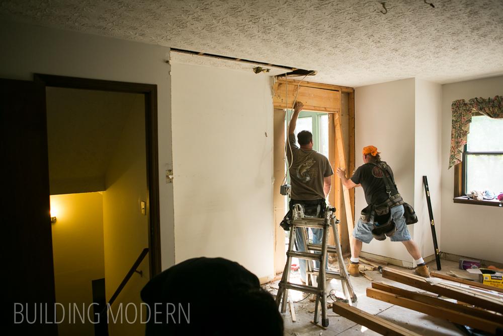 Foyer Ceiling Joist : Kitchen pantry demo foyer door expansion raising a few