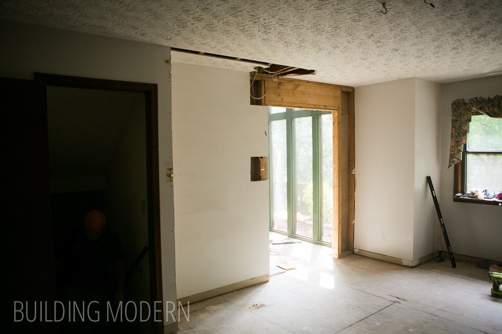 Foyer Ceiling Joist : Kitchen pantry demo foyer door expansion raising a few
