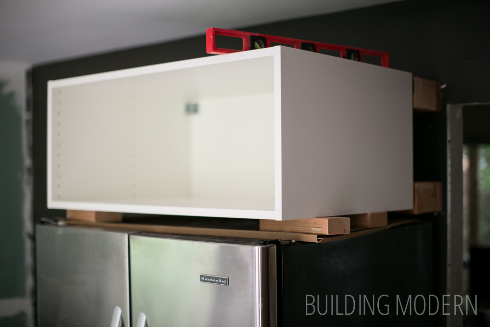 Kitchen cabinet cleat DIY