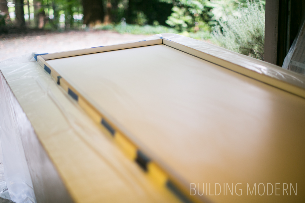 DIY concrete countertop melamine form