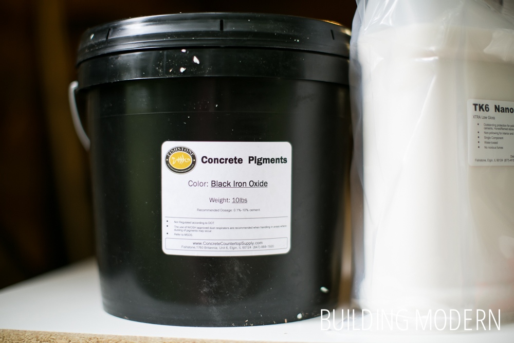 Black oxide concrete