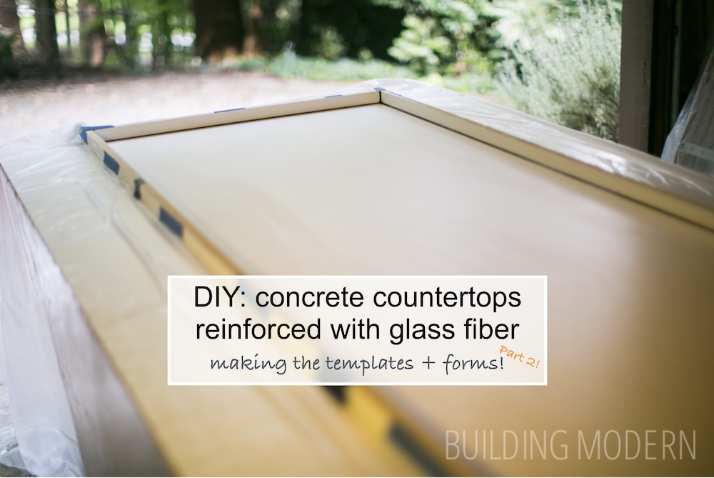Making concrete countertops forms