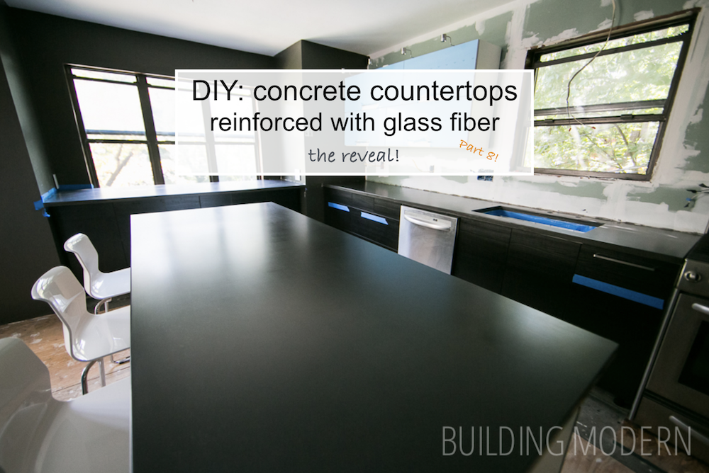 Concrete countertops DIY reveal day