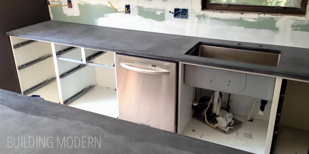 Kitchen: DIY concrete countertops – installation