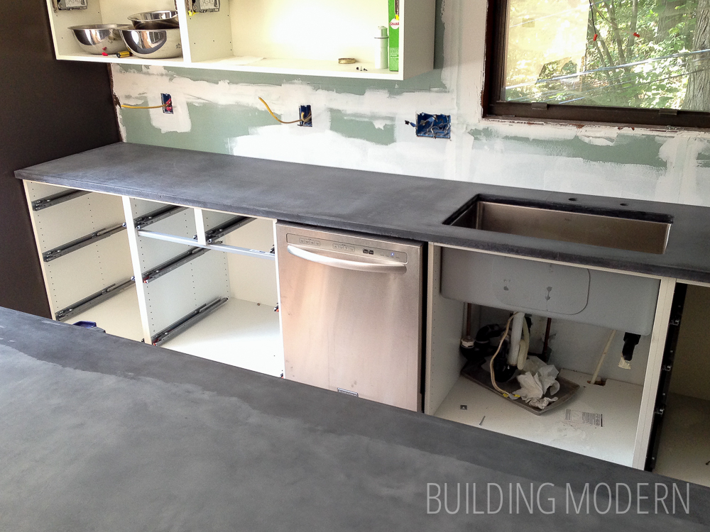 Kitchen Diy Concrete Countertops Reveal