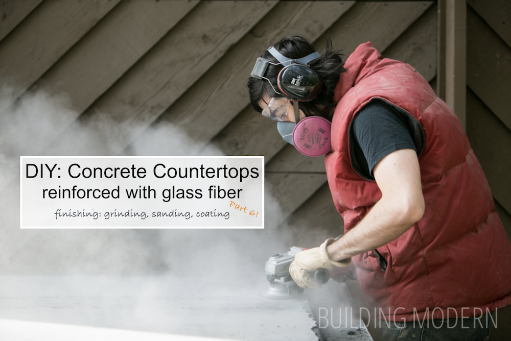 finishing steps for DIY concrete countertops