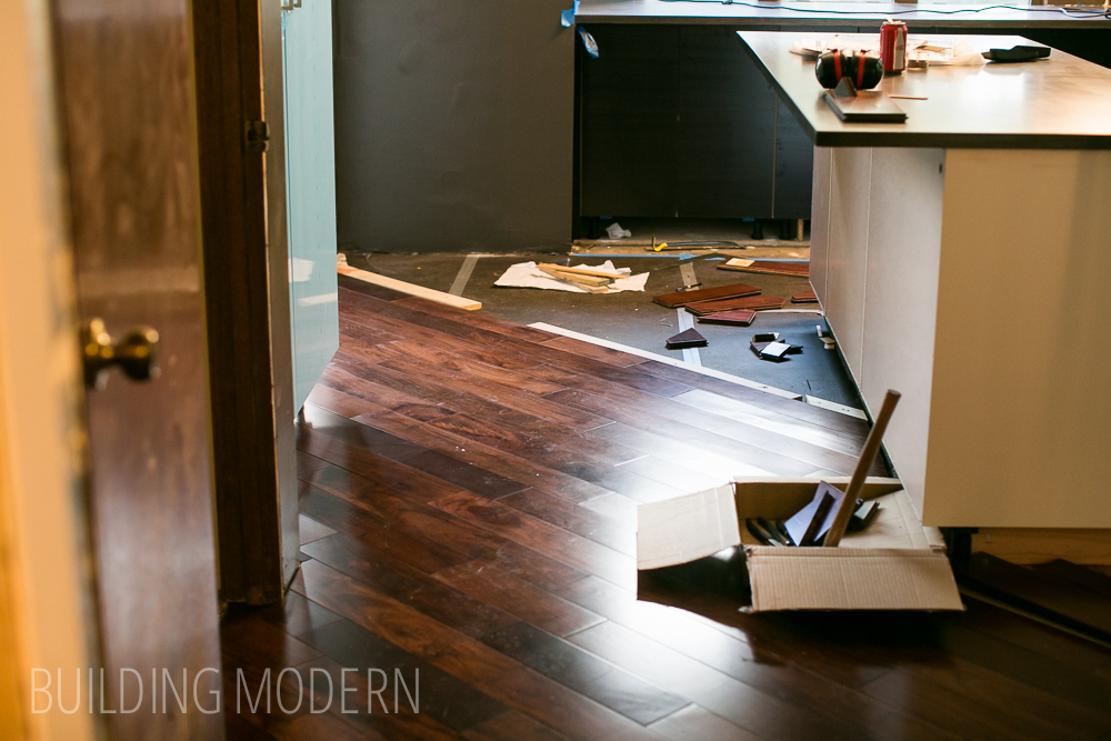 how to install a diagonal hardwood floor