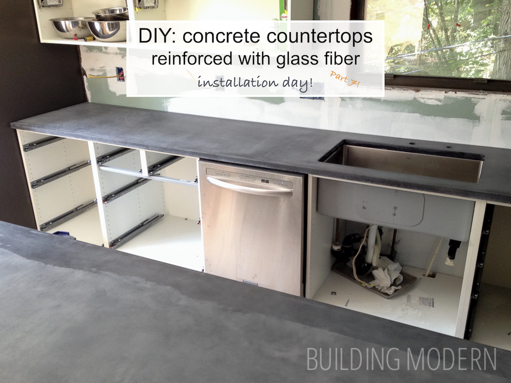 Installing Our Concrete Countertops
