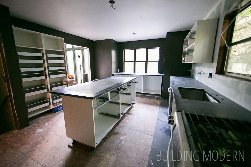 kitchen renovation diy in progress