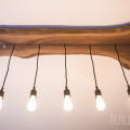 Modern Live Edge Walnut Industrial Light Fixture