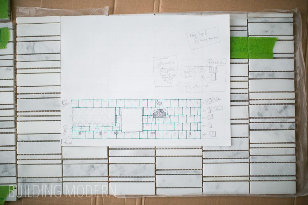 Mosaic Wall Tile Diy Kitchen Plan