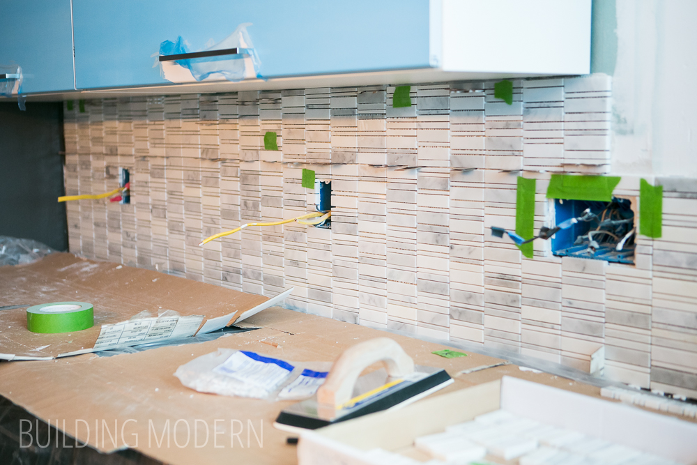How to install a carrara marble mosaic tile backsplash part 1 Backsplash tile installation