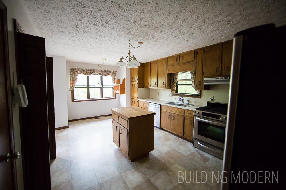 original kitchen in a 1980s modern house