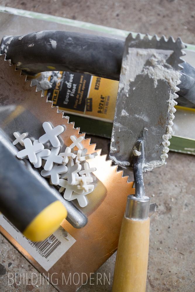 tile backsplash installation tools