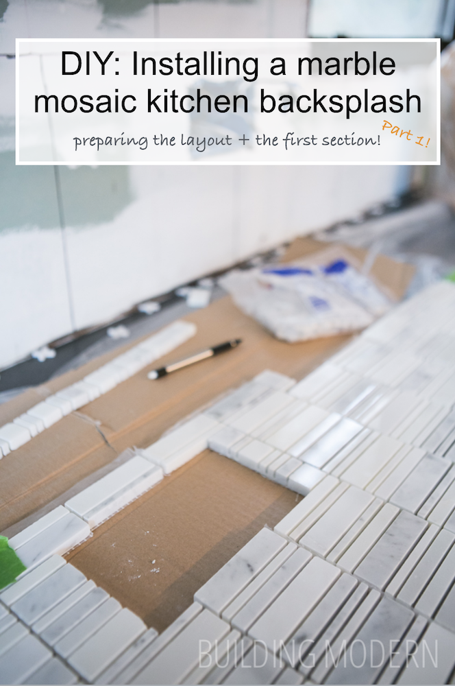 How to install a carrara marble mosaic tile backsplash