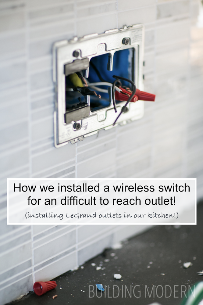 How we installed a wireless switch for a difficult to reach outlet