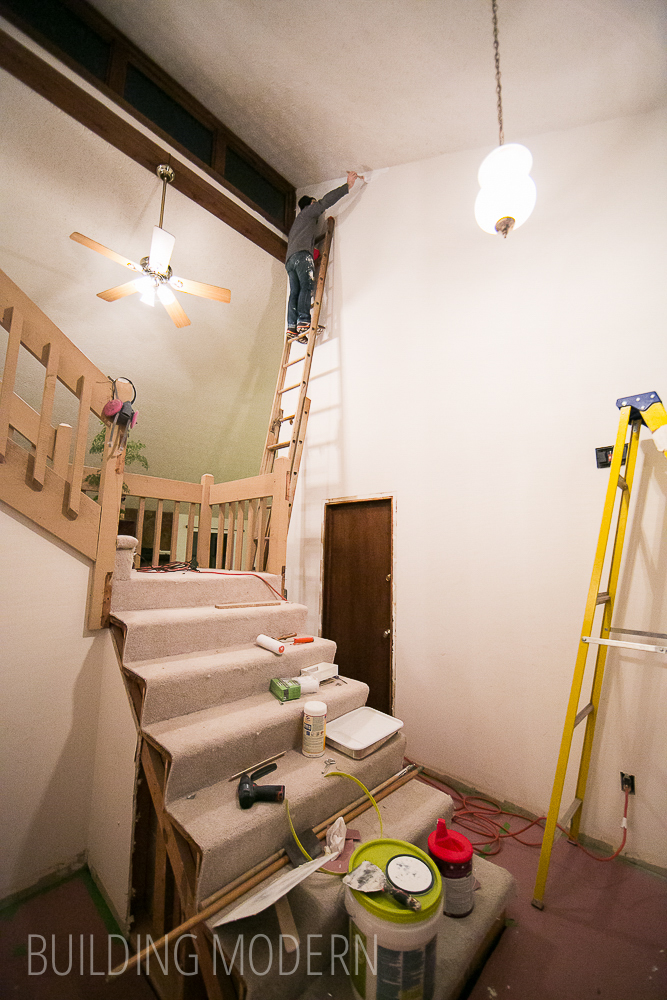 Painting a really tall foyer in a house