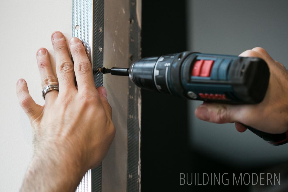 installing corner bead