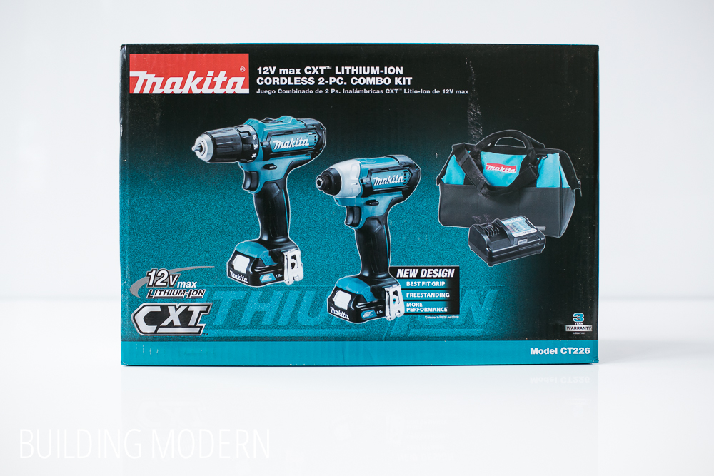 Makita 12 volt drill driver and impact driver kit