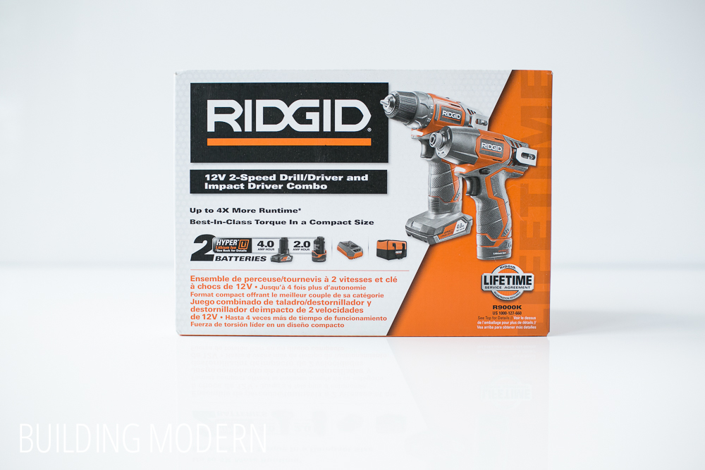 Ridgid 12 volt drill driver and impact driver kit