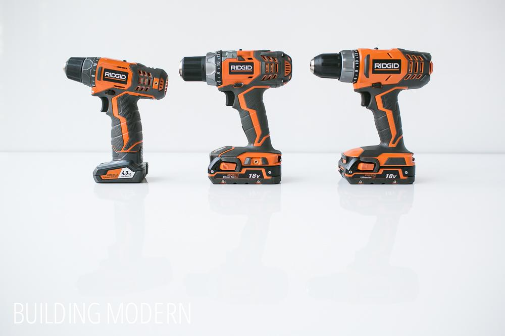 Ridgid 12 volt versus 18 volt drill drivers