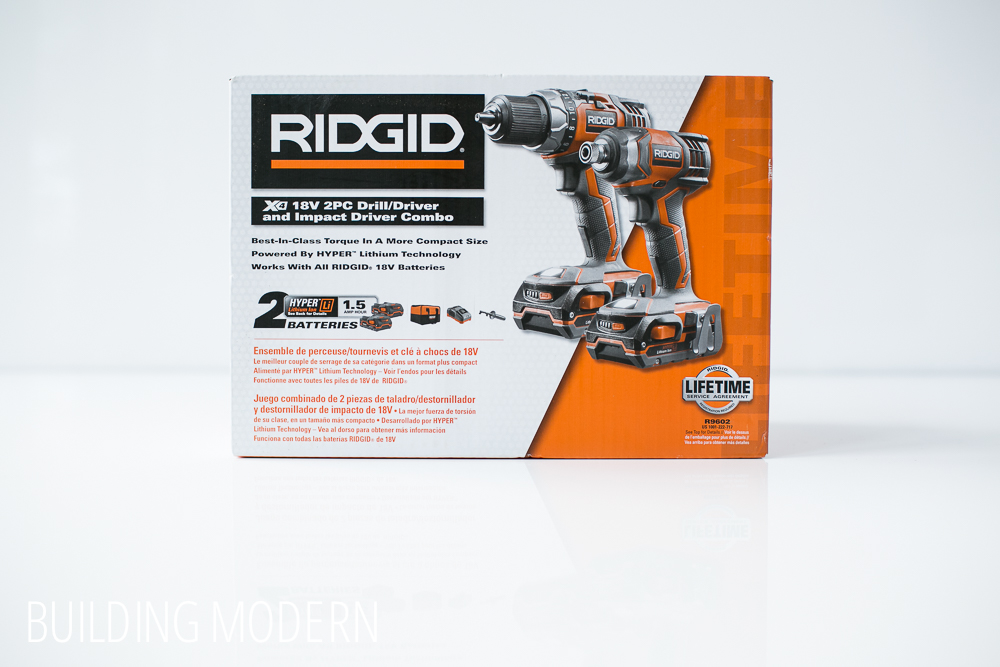 Ridgid 18 volt drill driver and impact driver kit