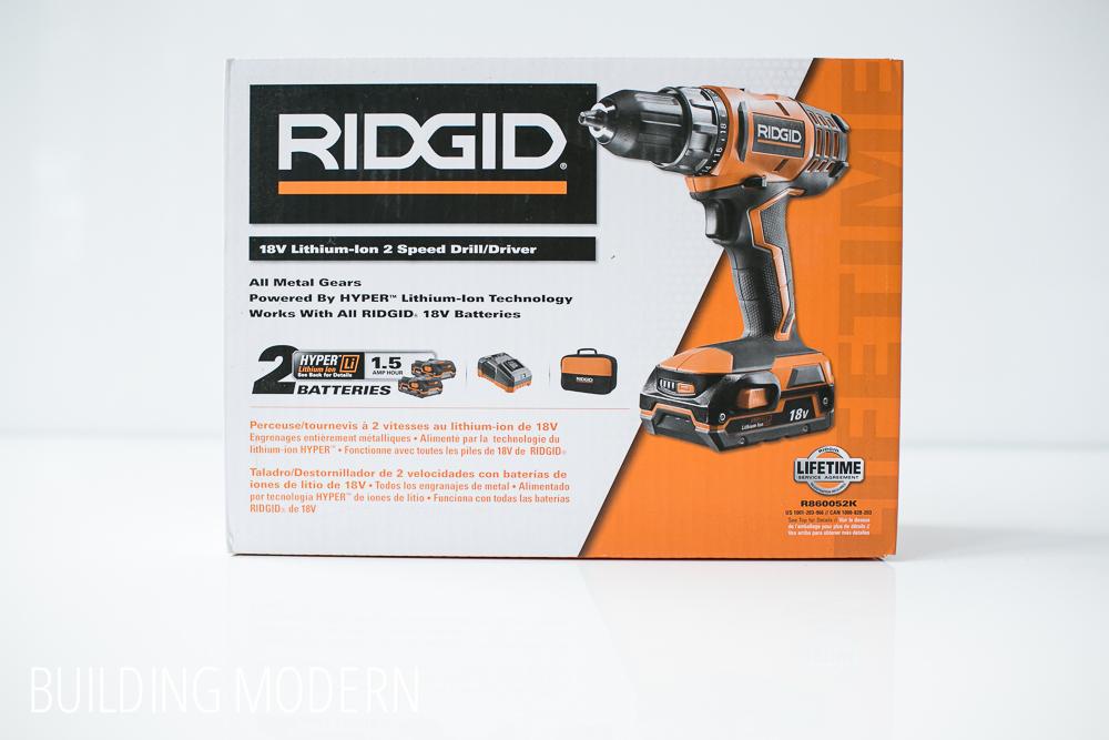 Ridgid 18 volt drill driver