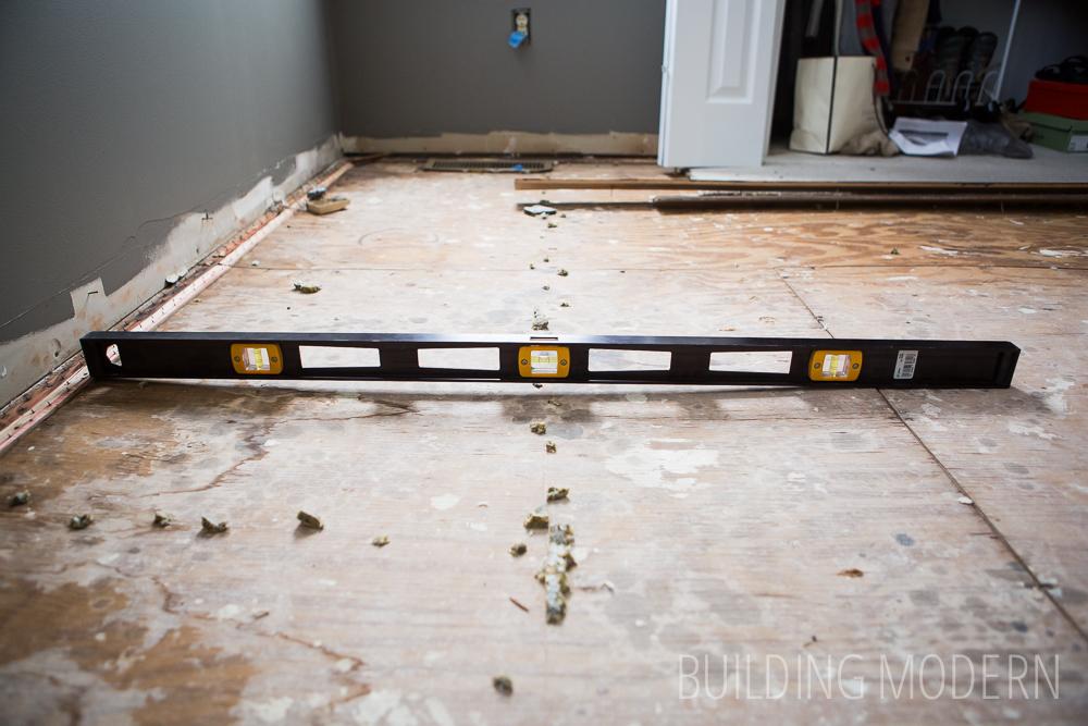 Fixing a low floor joist