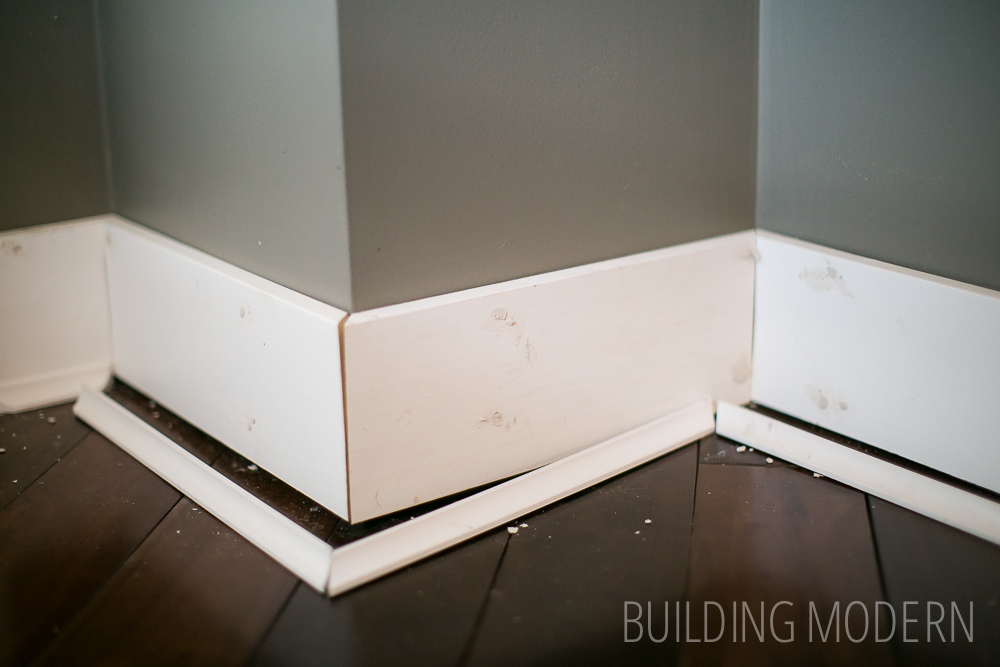 Building modern a modern diy renovation blog Modern floor molding