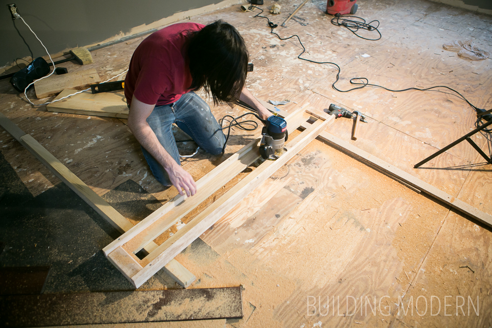 fixing a high spot in a subfloor