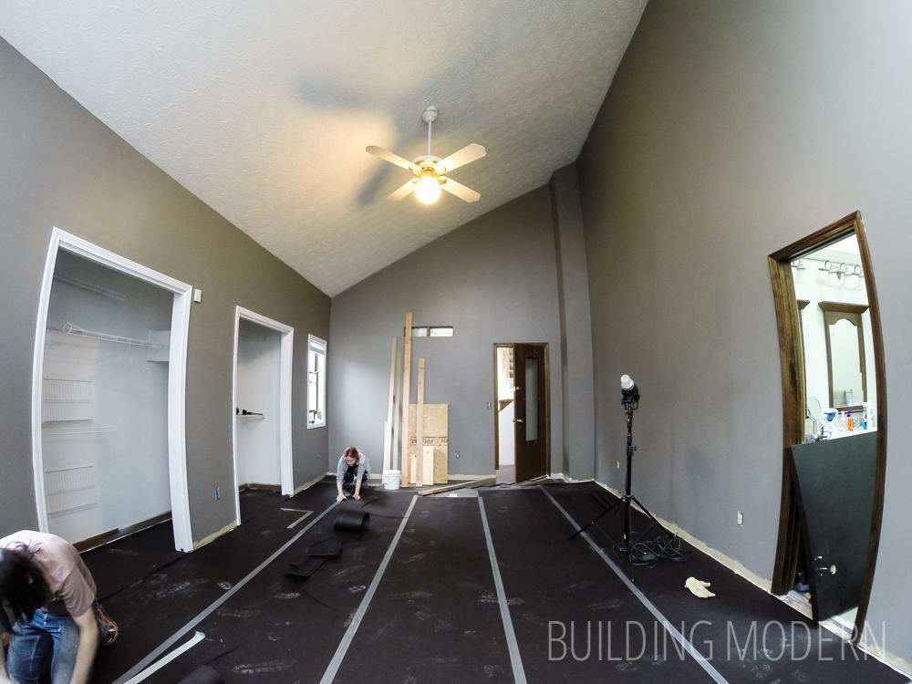 hardwood floor over felt paper