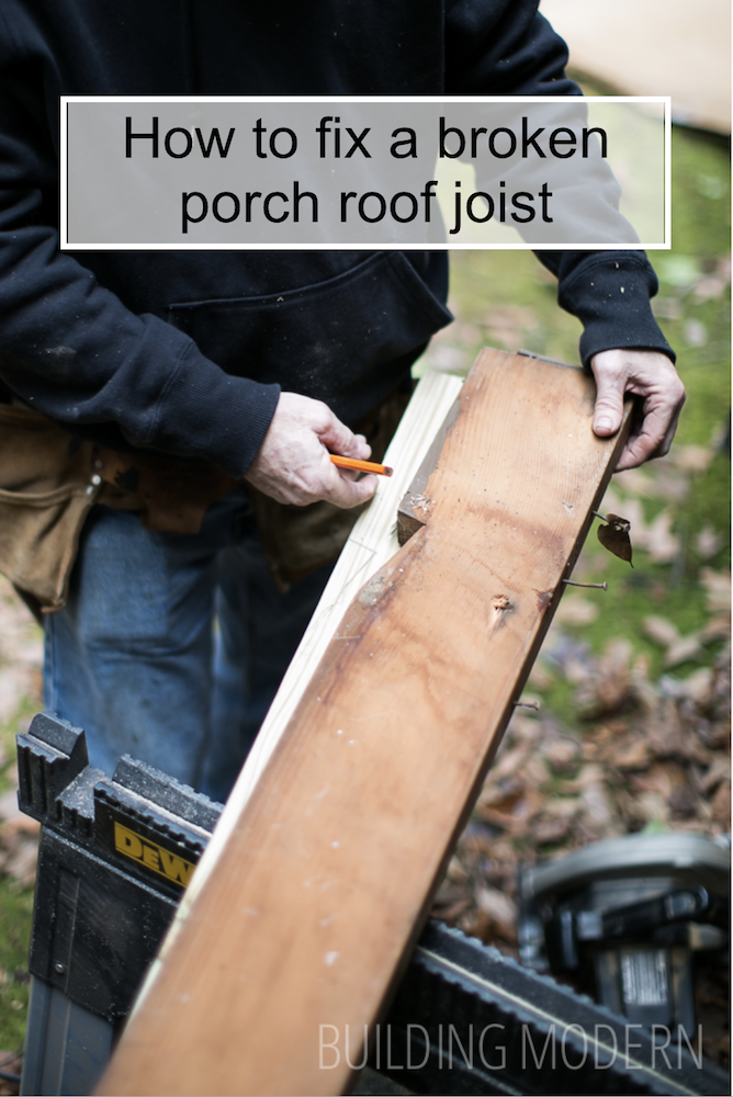 how to fix a broken porch roof joist