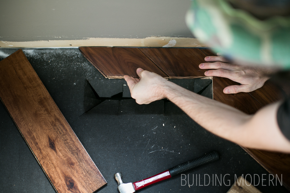how to install hardwood floors around a vent