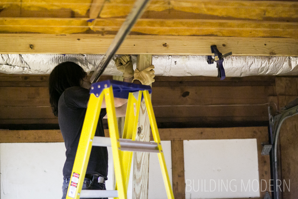 how to jack up and sister join floor joists