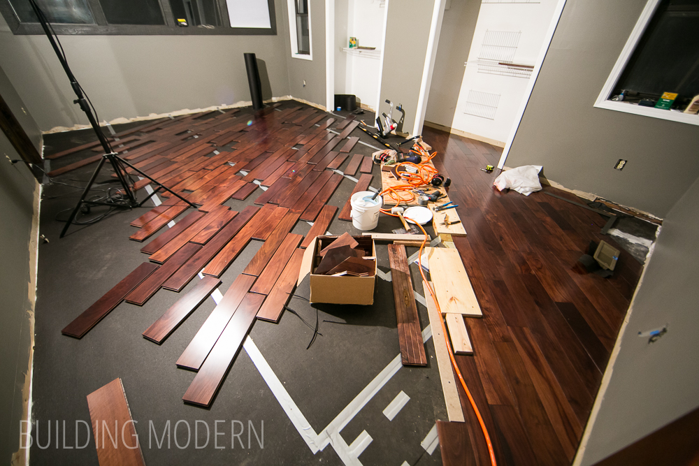 installing a diagonal hardwood floor