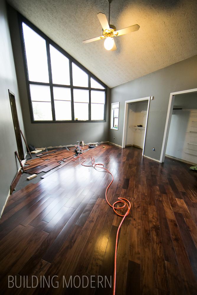 installing diagonal hardwood floors