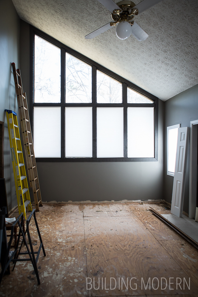 1980 style cedar home interior