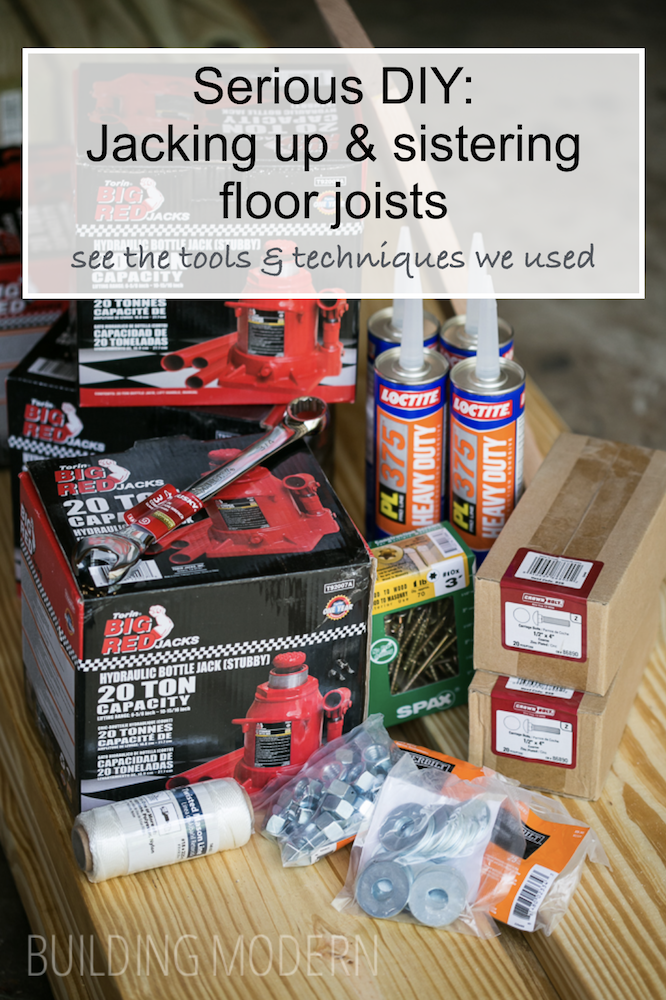 DIY Jacking up and sistering flor joists