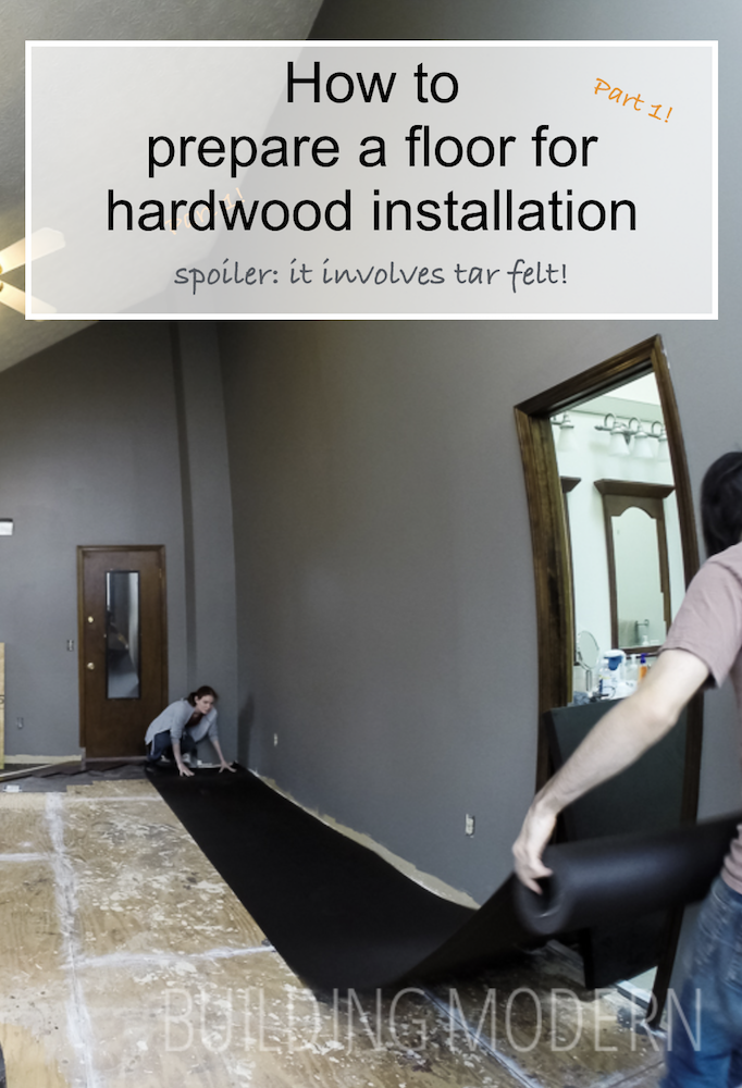 How to prepare a floor for hardwood installation