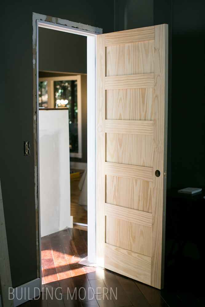 A new door trim for Do it yourself home renovation