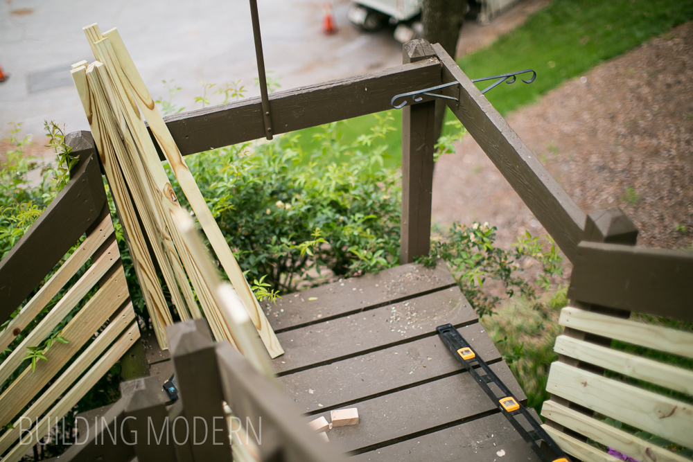 How to update exterior stair railings