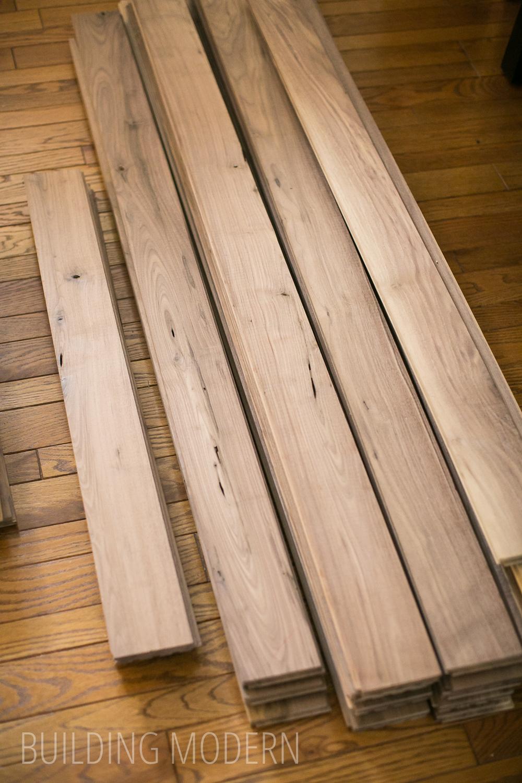 Building modern a modern diy renovation blog for Unfinished walnut flooring