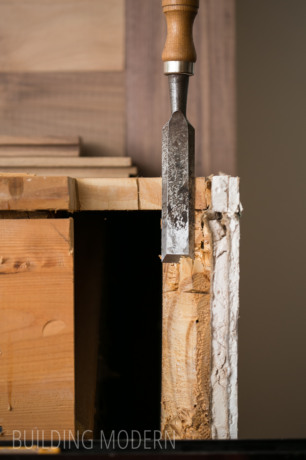 Using a chisel