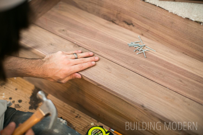 installing hardwood stairs diy