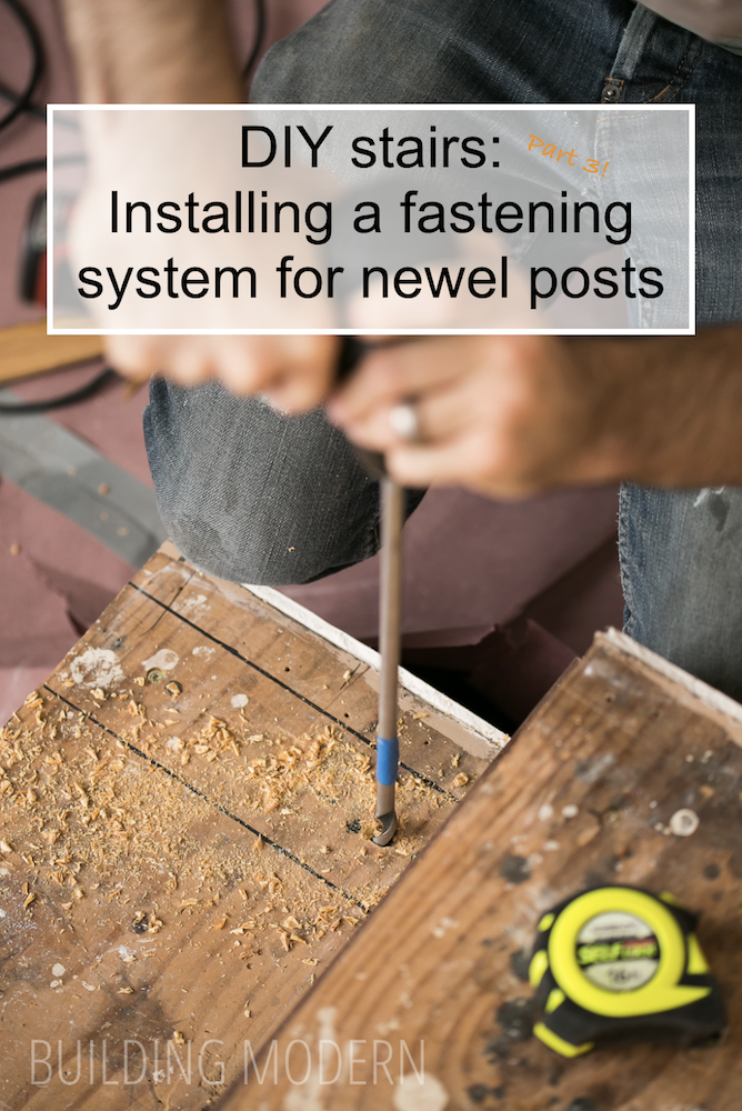 DIY installing a fastening system for newel posts